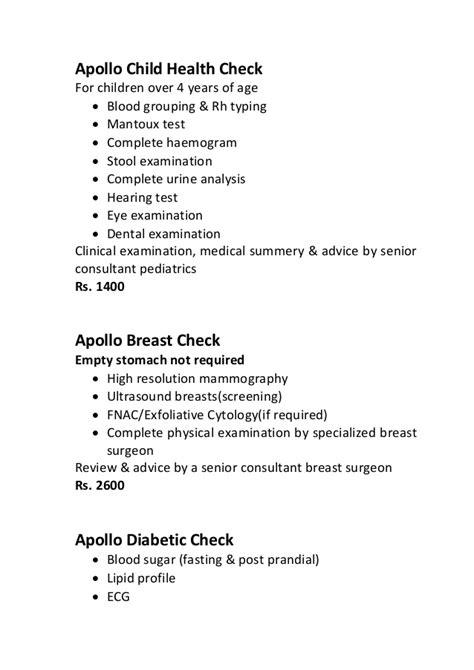 health check ups