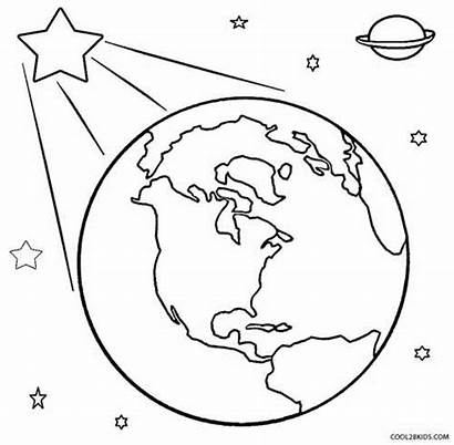 Coloring Earth Pages Printable God Space Created