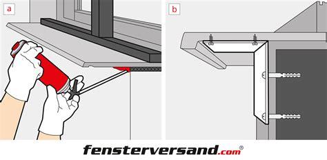 Fensterbaenke Im Aussenbereich Beim Einbau Auf Details Achten by Fensterbank Einbauen 187 Innen Au 223 En 187 Montageanleitung