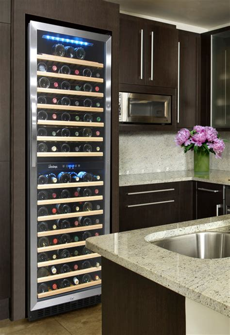 Element By Vinotemp Kitchen With 155 Bottle Dual Zone Wine
