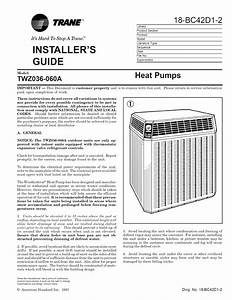 Trane Heat Pump Installation Guide