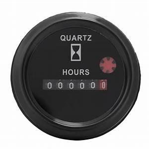 Dc 12 36v 6 Digit Accurate Round Quartz Hour Meter Timer