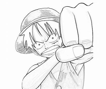 Luffy Coloring Piece Pages Monkey Skill Printable