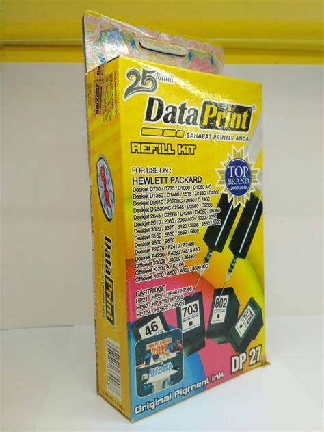 jual tinta refill data print suntik hp dp27 hitam dan dp28