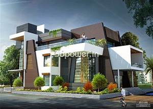 Side Angle View Of Contemporary Bungalow | Beautiful house ...