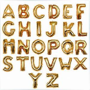 50pcs lot aluminum ballon gold silver letter foil balloons With alphabet balloon letters
