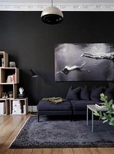 le salon gris et noir comment le decorer archzinefr With tapis chambre bébé avec comment envoyer des fleurs
