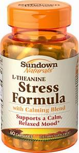 Sundown Naturals L-theanine Stress Formula Capsules 60 Ct - Health  U0026 Wellness