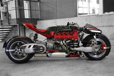 A Motorcycle With A 470 Hp Maserati Engine