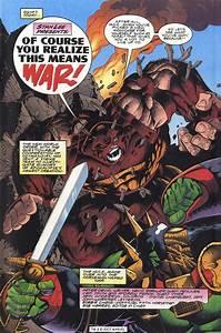 War Hulk & Red Hulk vs Kurse & Destroyer - Battles - Comic ...