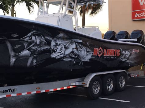 Fishing Boat Graphics Lettering by Florida Boat Wraps High Quality Boat Wraps Graphics