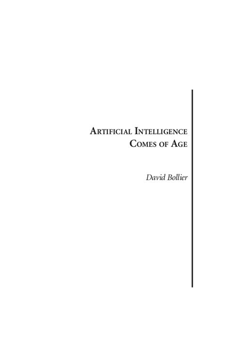 ARTIFICIAL INTELLIGENCE COMES OF AGE.