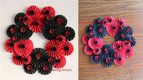 Rose flowers with name tag that can decorate your wall or any other home interiors. Paper Flower Wall Hanging - Paper Flower - DIY Wall Decor ...