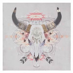 Maison Du Monde Tete De Buffle : toile t te de buffle 75 x 75 cm buffalo maisons du monde ~ Teatrodelosmanantiales.com Idées de Décoration