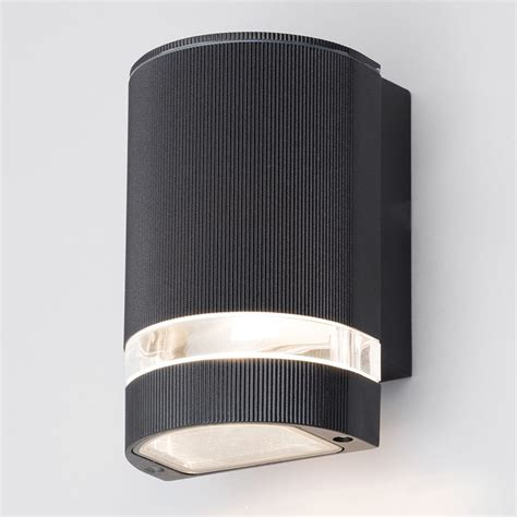contemporary outdoor lighting holme small up or light outdoor wall light black