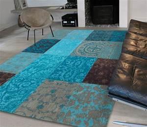 Teppich Landhausstil Blau : patchwork teppich als moderne und kreative l sung f r ihr zuhause ~ Markanthonyermac.com Haus und Dekorationen