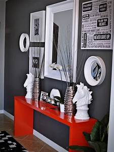 39, cool, red, and, grey, home, d, u00e9cor, ideas