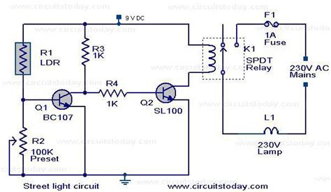 Circuits Automatic Street Light Controller Circuit