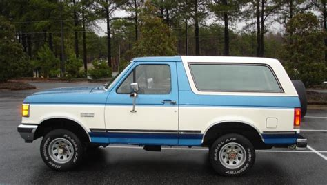 blue bronco car 1991 blue and white ford bronco truck photo ford truck