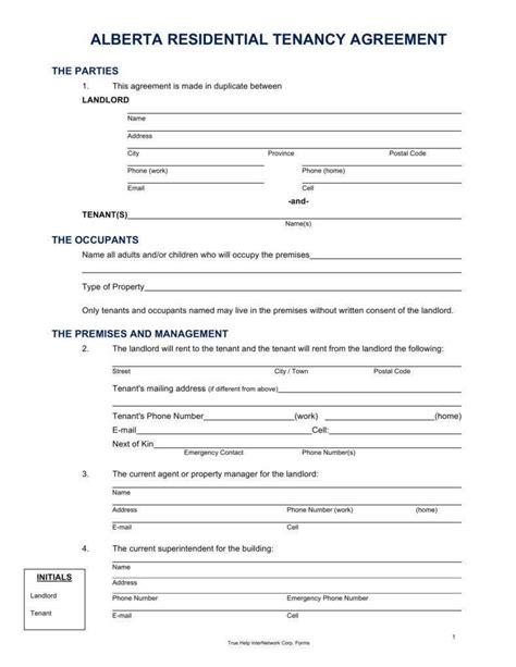 tenant lease agreement templates   premium