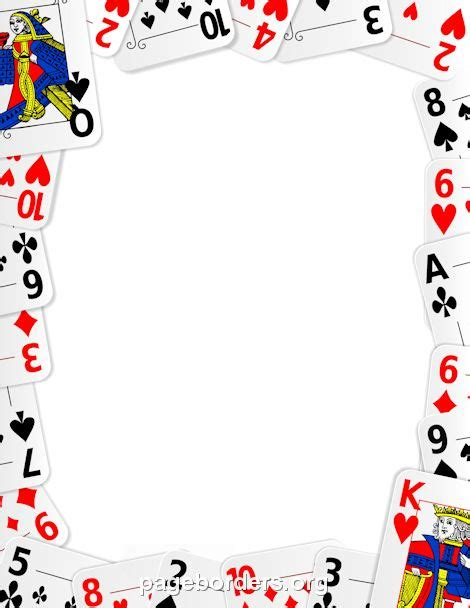 Free Printable Playing Cards Clip Art Borders