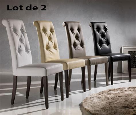 Les chaises de salle à manger permettent de s'installer aisément et confortablement pendant les repas en commun. chaise-pu-capitonne-luxa-zd1_c-d-ec-160.jpg