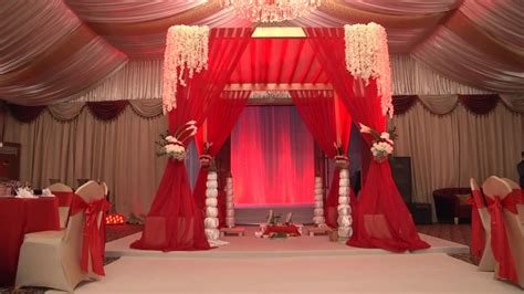 Red and Gold Themed Wedding Setup YouTube