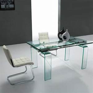 Table En Verre Rectangulaire : table design rectangulaire extensible en verre tania 4 ~ Teatrodelosmanantiales.com Idées de Décoration