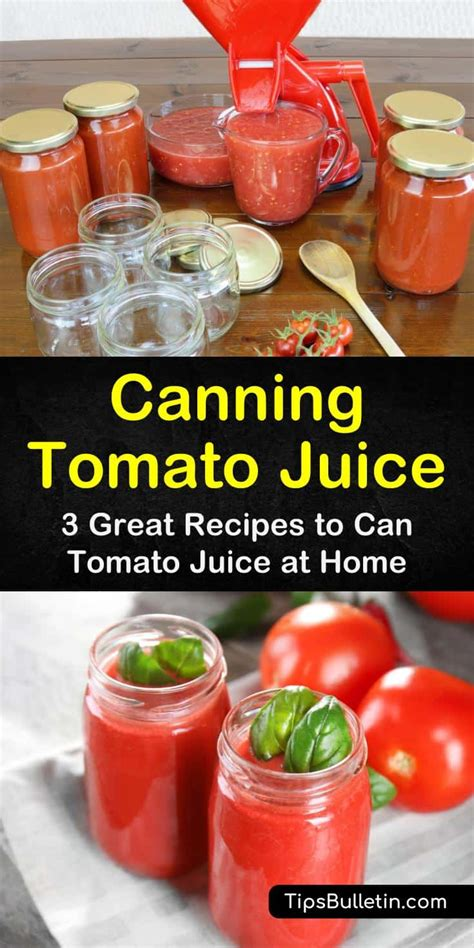 canning tomato juice recipes recipe homemade works ingredients found easy hope guide these