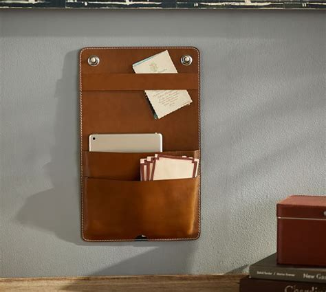 leather wall hanging organizer pottery barn