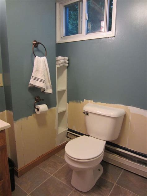 bathroom makeover behr waterscape for the home