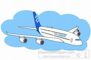 Aircraft Clipart- airbus-380-passenger-jet-clipart-5971 ...