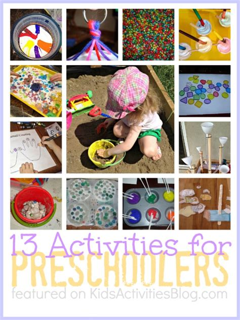 13 activities for preschoolers and educational 405 | 1