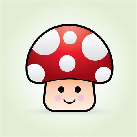 create  cute vector mushroom character
