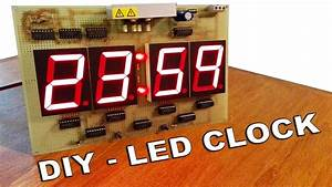 Big Led Clock  Electric Diagram In Video  - By Ste