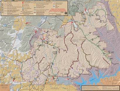 Map Escalante Staircase Grand Monument National Ears