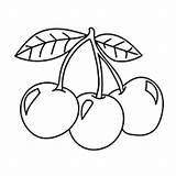 Cherry Cherries Coloring Pages Fruit Fruits Colouring Printable Three Stencil Clip Embroidery Drawing Pattern Tattoos Momjunction Templates Games Coloringonly Patterns sketch template