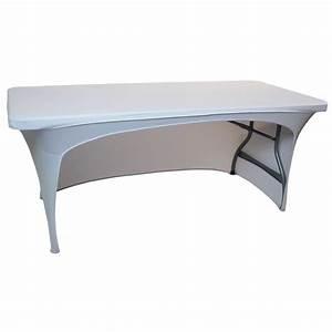 Nappe De Table Rectangulaire : nappage table rectangulaire 183cm 1 cot ouvert table pliante nappes de table pliante ~ Teatrodelosmanantiales.com Idées de Décoration