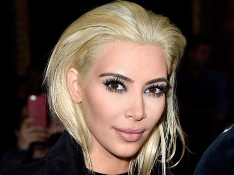 Kim Kardashian Platinum Blonde Hair Business Insider