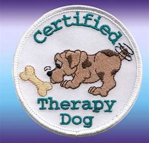 Certified Therapy Dog Patch | CTD2