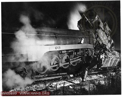 Wreck Near Bristol, Va 1957. N&w Class 613 Rear Ended A