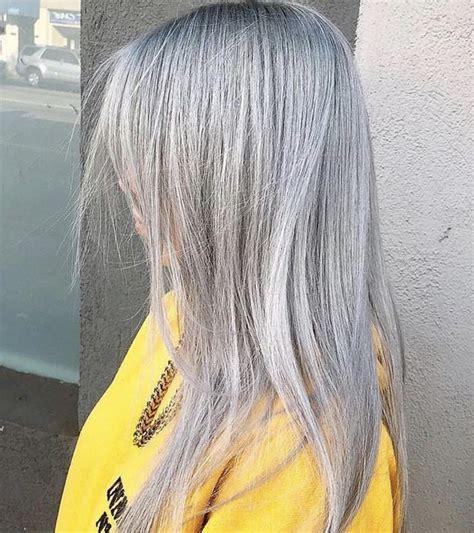 billie eilish hair colour hair   silver blonde