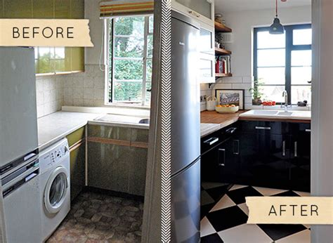 small kitchen makeover before and after before after a small shabby kitchen gets a chic 9340