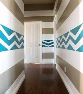 Streifen An Die Wand Malen Beispiele : farbgestaltung flur freshouse ~ Markanthonyermac.com Haus und Dekorationen