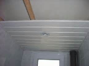 pose lambris pvc plafond salle de bain inspiration du