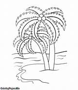 Coloring Palm Tree Trees תמר Printable עצי צ�יעה דף sketch template