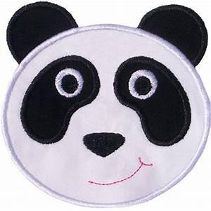 Panda Bear Face Applique Design