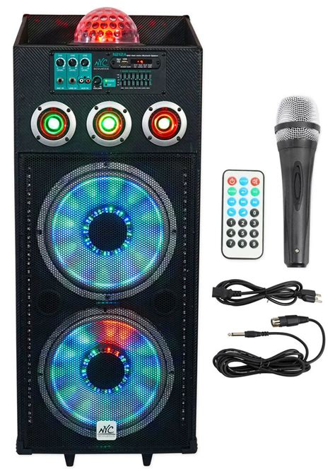 Speakers With Lights by Nyc Acoustics N212a Dual 12 Quot 700w Powered Dj Speaker