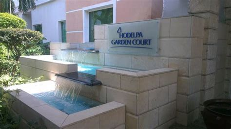 hodelpa garden court water feature in front of reception picture of hodelpa