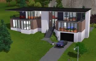 sims 3 maison moderne au toit large architecture maison house jeu les sims 3